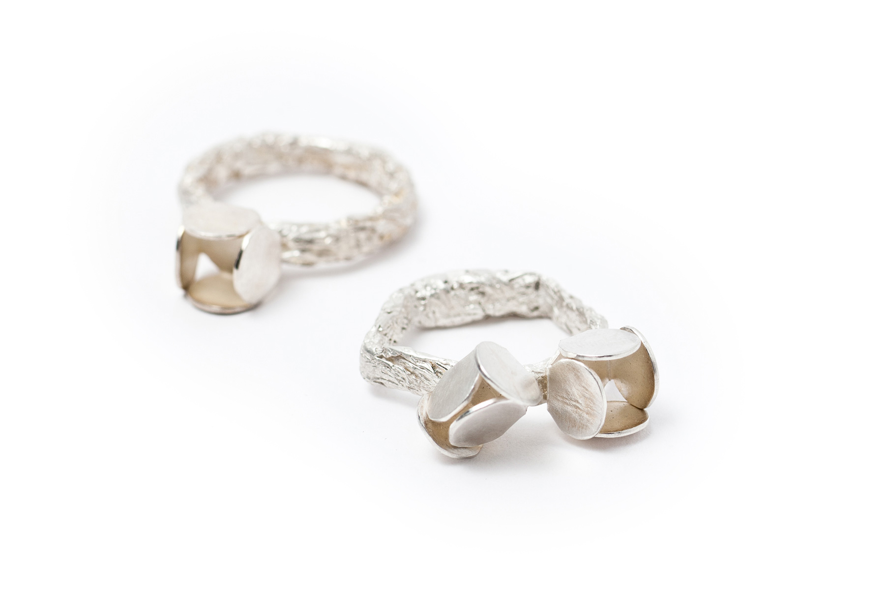 rings custom engagement made contemporary by andreamueller rough cut diamonds